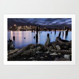Demolished Pier - East Boston Art Print