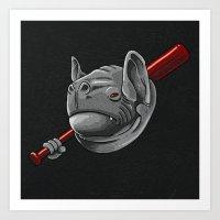 bats Art Prints featuring Bats by Zachary Huang