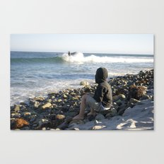 Boy On Beach Canvas Print