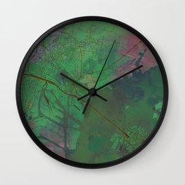 Venice Italy Street Map Green Planet Wall Clock