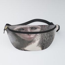 New born baby monkey Fanny Pack