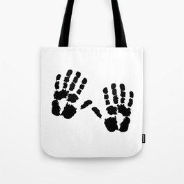 Hands  Prints Tote Bag