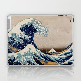 Under the Great Wave by Hokusai Laptop & iPad Skin