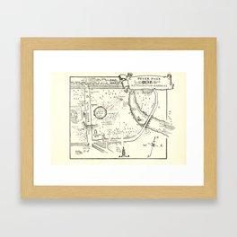 Map of Peter Pan's Kensington Gardens Framed Art Print