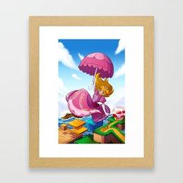 PLEASANTLY PEACHY Framed Art Print