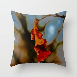 The last leaf standing... Throw Pillow