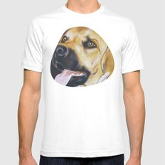 Mans Best Friend - Dog in Suit White MEDIUM Mens Fitted Tee