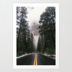 Mountain Road II Art Print
