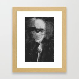 Karl Lagerfeld Tribute - Kendall Framed Art Print