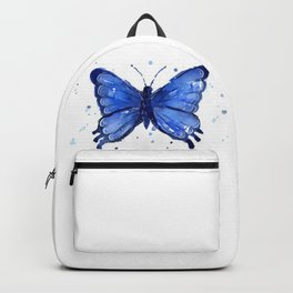 Butterfly Blue Watercolor Animal Painting Backpack