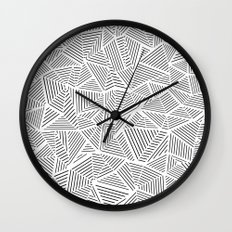 Abstraction Linear Inverted Wall Clock