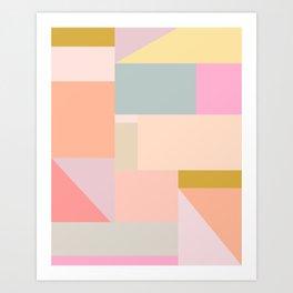 Pastel Geometric Graphic Design Art Print