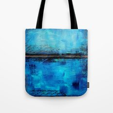 Looking down and into Tote Bag