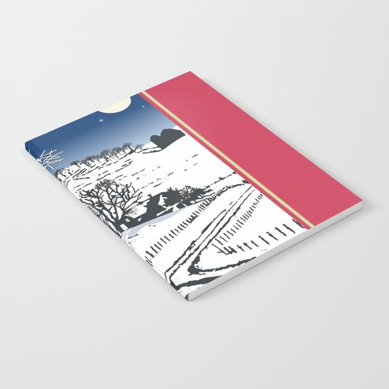 Silent Winter Night Silhouette Notebook