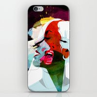 kiss iPhone & iPod Skins featuring Kiss by Alvaro Tapia Hidalgo