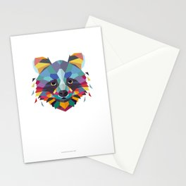 Racoon Color Geometric Stationery Cards