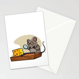 Detective Mouse Trap graphic For Little Detectives Gift Tee Stationery Cards