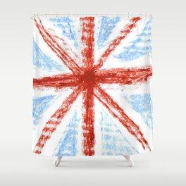 Flag of UK 11- London,united kingdom,england,english,british,great britain,Glasgow,scotland,wales Shower Curtain