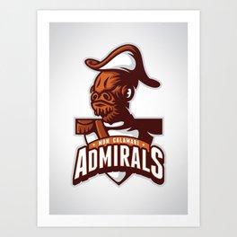 Mon Calamari Admirals Art Print