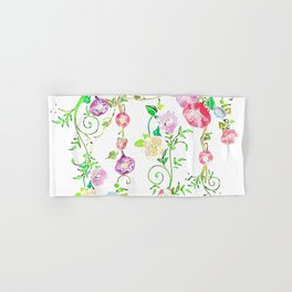 Floral Abstract on White Background Hand & Bath Towel