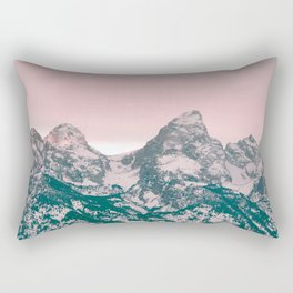 Grand Tetons Barn Rectangular Pillow