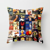 beer Throw Pillows featuring BEER by Adidit