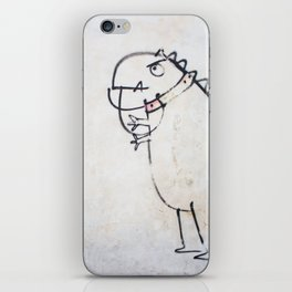 The dinosaur ate his owner iPhone Skin