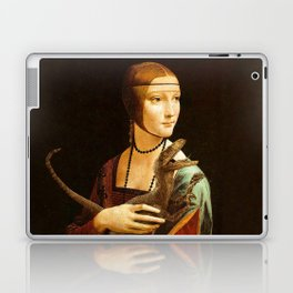 Lady with a Velociraptor Laptop & iPad Skin