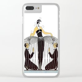 "Art Deco Design ""Improvised Cage"" by Erté Clear iPhone Case"