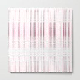 thin pink lines Metal Print