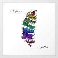 As light as a... Art Print
