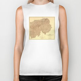 Vintage Great Smoky Mountains National Park Map (1936) Biker Tank