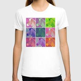 Everyone Loves A Zebra - Fluid Nature Abstract Art T-shirt