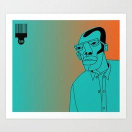 1001 Black Men--#258 Art Print