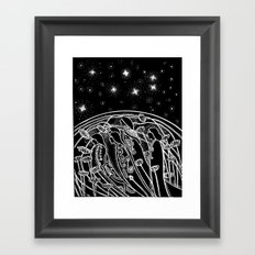Love and Death Framed Art Print