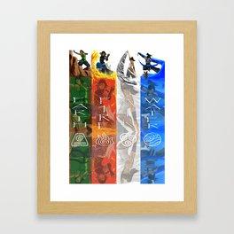 Legend of Korra Elements Framed Art Print