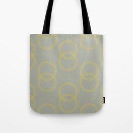 Simply Infinity Link Mod Yellow on Retro Gray Tote Bag