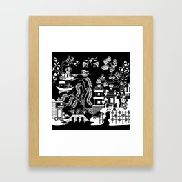 Goo Willow: Black on White Framed Art Print