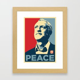Corbyn Peace Framed Art Print