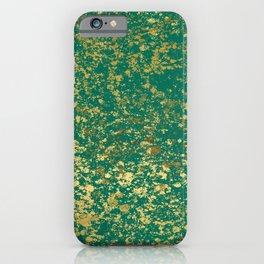 Ultramarine Green and Gold Patina Design iPhone Case