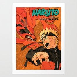 Narutoo vintage illustration Art Print