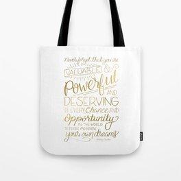 Pursue Your Dreams - Gold Tote Bag