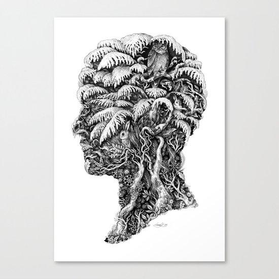 Portrait of Winter Canvas Print