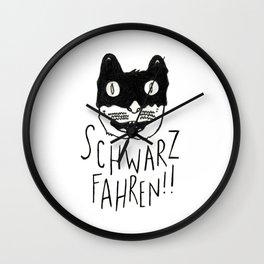 Schwarzfahren!! Wall Clock