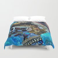birthday Duvet Covers featuring Birthday by Katy Hirschfeld
