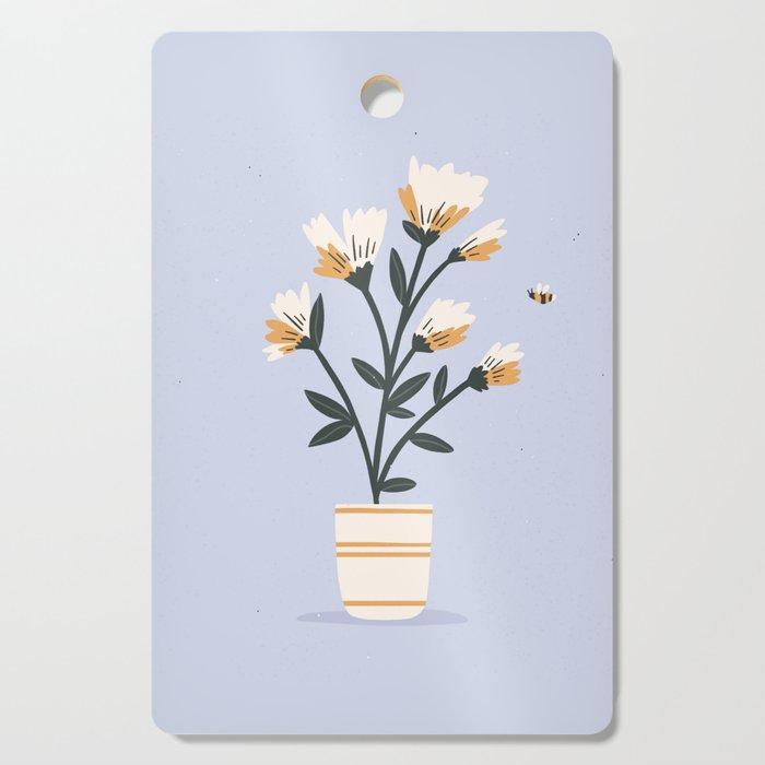 Bumble Bee Flowers Cutting Board