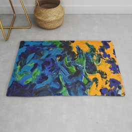 Horse Riders in the Autumn Sea Rug