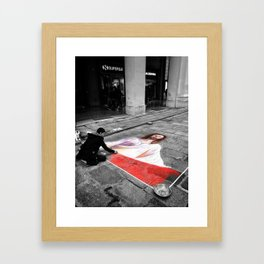 Street Art in Bologna Black and White Photography Color Framed Art Print