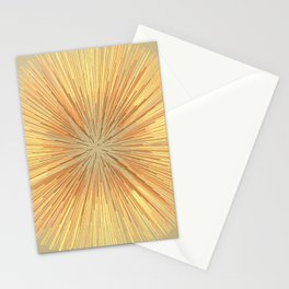 Burst (ochre) Stationery Cards