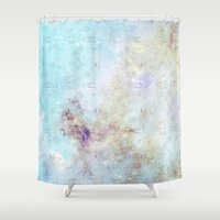 ships Shower Curtains featuring Little Ships by FictionalRed